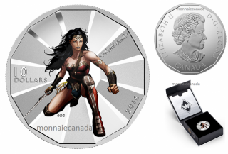 2016 - $10 - 1/2 oz. Fine Silver – Batman v Superman: Dawn of JusticeTM - Wonder Woman