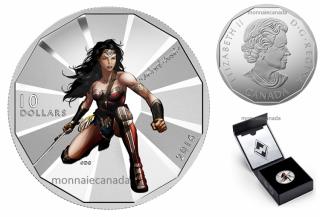2016 - $10 - 1/2 oz. Fine Silver – Batman v Superman: Dawn of JusticeTM - Wonder Woman
