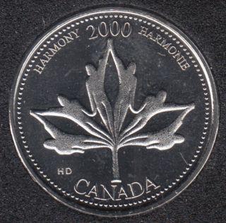 2000 - #6 NBU - Harmonie - Canada 25 Cents