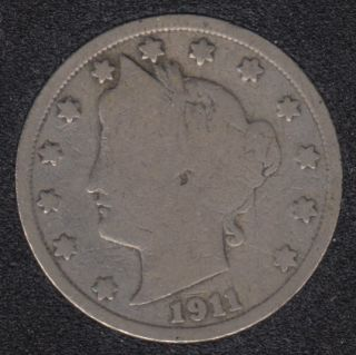 1911 - Liberty Head - 5 Cents