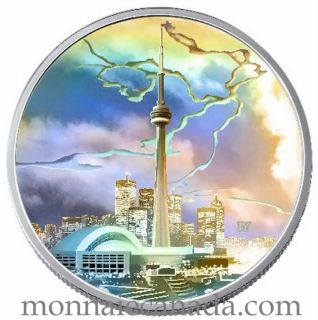 2006 $20 Fine Silver Coin - Toronto CN Tower - Tax Exempt