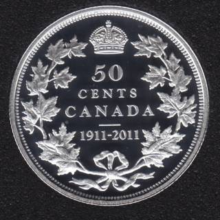 2011 - 1911 - Proof - Silver - Canada 50 Cents