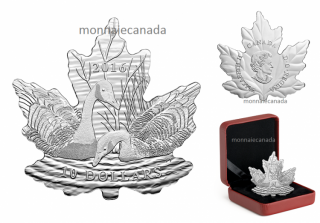 2016 - $20 - 1/2 oz. Pure Silver Coin – Maple Leaf Silhouette: Canada Geese
