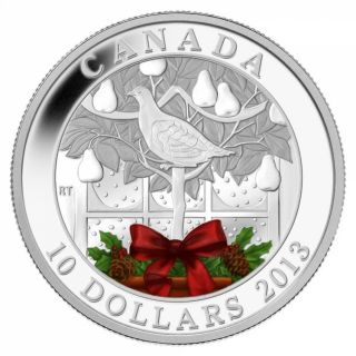 2013 - $10 - 1/2 oz. Fine Silver Coin - A Partridge in a Pear Tree