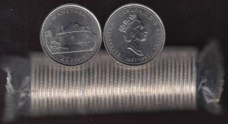 1992 Canada 25 Cents Manitoba BU ROLL 40 Coins - UNC