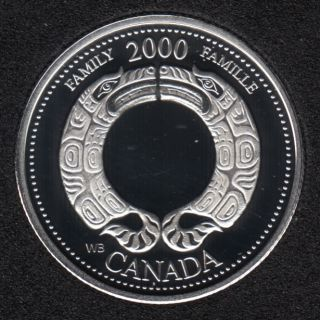 2000 - #8 Proof - Silver - Family - Canada 25 Cents