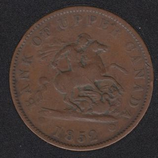 P.C. 1852 Bank of Upper Canada Penny PC-6B3