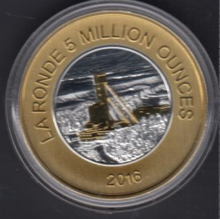 2012 - Agnico-Eagle - 5 Million Ounces Gold - 1 once troy Argent Fine Silver - By the Royal Canadian Mint