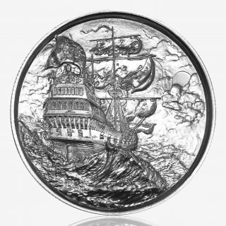 2 oz Elemetal Privateer Ultra High Relief Silver Round (Privateer Series #1, New)