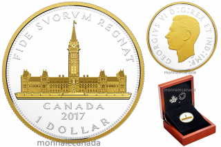 2017 - $1 - Fine Silver Dollar 2 OZ - Royal Visit - Parliament Building
