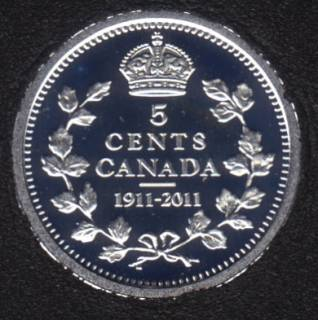 2011 - 1911 - Proof - Argent - Canada 5 Cents