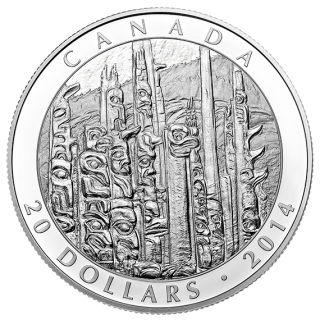 2014 - $20 - 1 oz. Fine Silver Coin - Emily Carr: Totem Forest