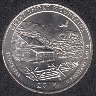 2014 P - Great Smoky Mountains - 25 Cents