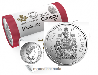 2017 - 50 Cents - (Coat of Arms) Roll