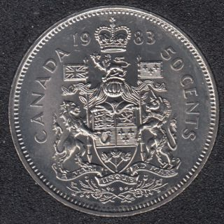 1983 - B.Unc - Canada 50 Cents