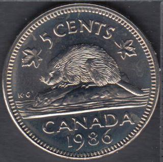 1986 - Gem B.Unc - Canada 5 Cents