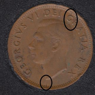 1951 - Break Bust to Rim & Head to G to Rim - Canada Cent