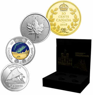 2018 - State-of-the-Art 4-Coin Set