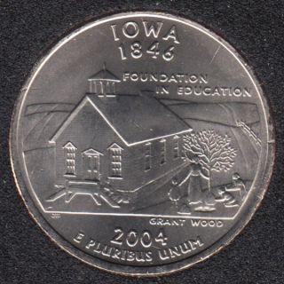 2004 D - B.Unc - Iowa - 25 Cents