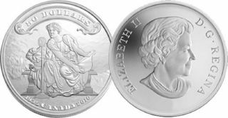 2010 - $50 - Dollars Fine Silver - 75th Anniv. of the First Banknotes - TAX Exempt