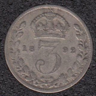 1892 - 3 Pence - Grande Bretagne
