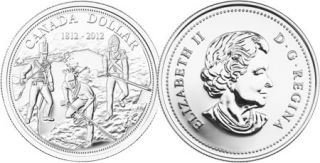2012 - Brilliant Fine Silver Dollar - 200th anniversary of the War of 1812