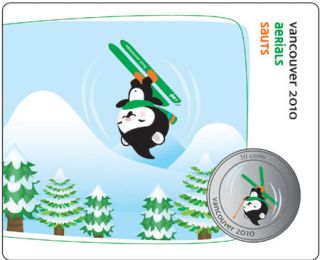 2010 - 50 Cents - Vancouver – Freestyle Skiing Mascot Collector Card