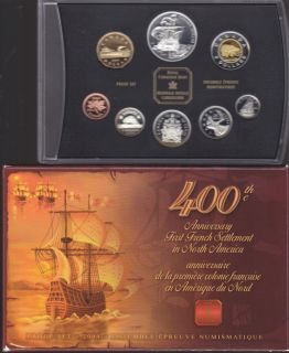 2004 Proof Set - 400th Anniversary of the first French settlement in North America
