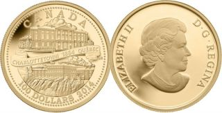 2014 - $100 - 14-Karat Gold Coin - 150th Anniversary of the Québec and Charlottetown Conferences