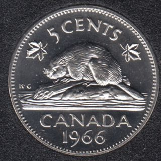 1966 - Proof Like - Canada 5 Cents
