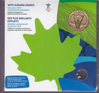 2010 Vancouver olympic First Gold Commemorative Medallion