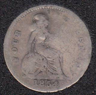 1854 - 4 Pence - Endommagé - Grande Bretagne