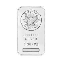 1 oz Sunshine Mint Silver Wafer Bar
