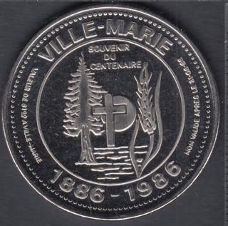 Ville-Marie - 1986 - 1886 - Centenary - $1 Trade Dollar