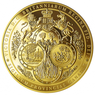 2019 - $2500 - One Kilogram Pure Gold Coin - The Great Seal of the Province of Canada