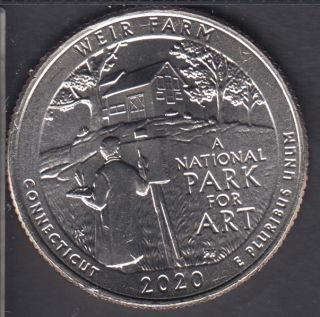 2020 D - B.Unc - Weir Farm - 25 Cents