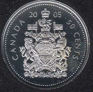 2005 - Proof - Silver - Canada 50 Cents