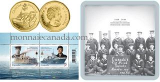 2010 - $1.00 Gold Plated Navy Centennial Coin and Stamp Set