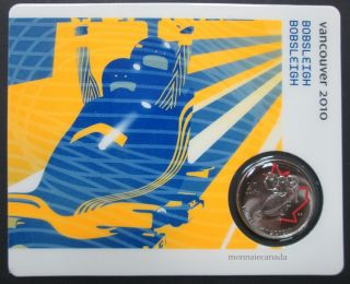 2010 - 25 cents - Vancouver – Bobsleigh Circulation Sport Cards