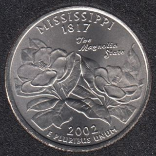 2002 P - B.Unc - Mississippi - 25 Cents