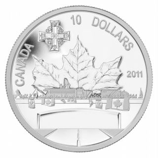 2011 - $10 - Fine Silver Coin - Highway of Heroes