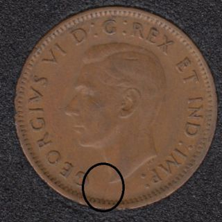 1947 - Break Bust to Rim - Canada Cent
