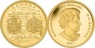 2013 - $2500 - Pièce de un kilo en or pur - 250e anniversaire de la fin de la guerre de Sept Ans