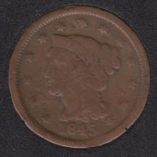 1845 - Liberty Head - Large Cent