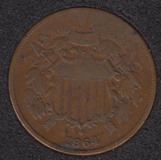 1864 - Shield - Two Cents