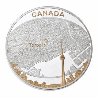 2011 - $25 - Fine Silver - Toronto City Map