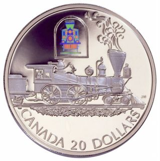 2000 - $20 - Transportation Steam Engine 'The Toronto' - Proof Silver