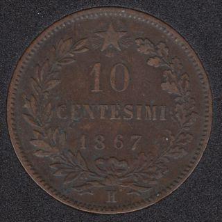 1867 - 10 Centesimi - Italie