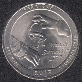 2015 P - Saratoga - 25 Cents