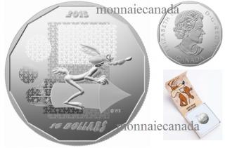 2015 - $10 - 1/2 oz. Fine Silver – Looney TunesTM •  Wile E. Coyote